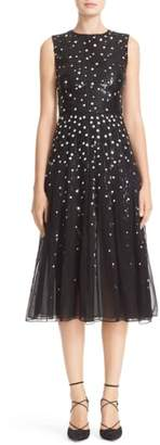Carolina Herrera Degrade Sequin Silk Midi Dress