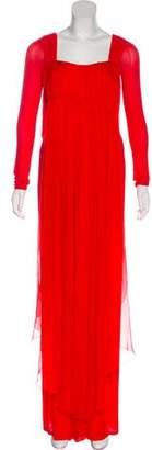 Donna Karan Long Sleeve Evening Dress