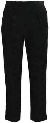 Co Crepe-Satin Jacquard Tapered Pants