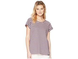 Columbia Trail Shaker Stripe Short Sleeve Shirt Women's T Shirt