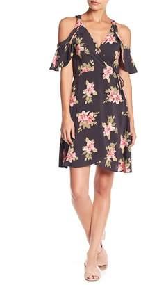 O'Neill Cecelai Floral Cold Shoulder Wrap Dress