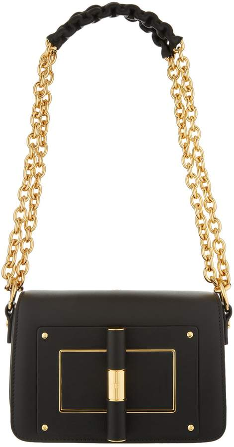 TOM FORD Small Natalia Chain Shoulder Bag, Black, One Size
