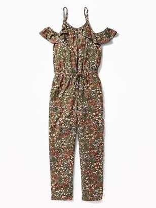 Old Navy Floral Cold-Shoulder Jumpsuit for Girls