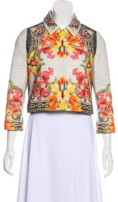 Givenchy Floral Print Snap Jacket