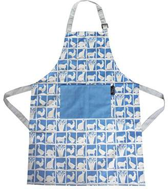Repetto Hinchcliffe and Barber Fabric Apron, Blue