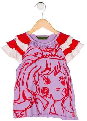 Oilily Girls' Printed Short Sleeve Top