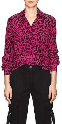 Robert Rodriguez Women's Leopard-Print Silk Blouse