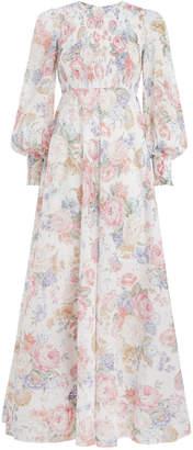 Zimmermann Bowie Shirred Bodice Dress