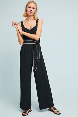 Anthropologie Essentials by The Essential Belted Jumpsuit