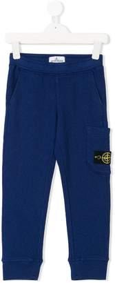 Stone Island Junior logo patch pocket track pants