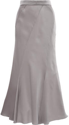 Alberta Ferretti Paneled Silk Midi Skirt Size: 42