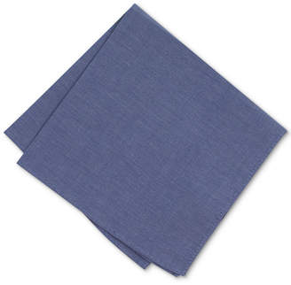Bar III Men's Chambray Solid Pocket Square, Created for Macy's