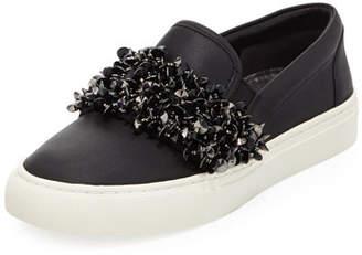 Tory Burch Logan Embellished Platform Sneakers