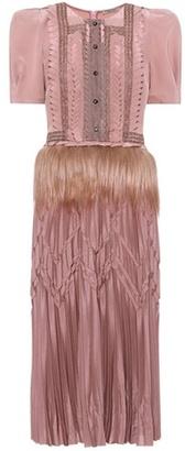 Fur-trimmed dress