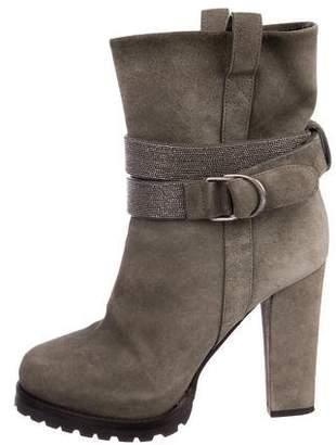 Brunello Cucinelli Monili Ankle Boots