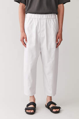 Cos ELASTICATED ORGANIC-COTTON TROUSERS