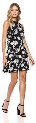 Karen Kane Women's Embroidered Halter Dress