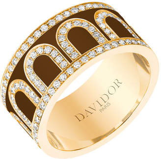 L'Arc de Davidor 18k Gold Diamond Ring - Grand Model, Cognac, Sz. 7.5