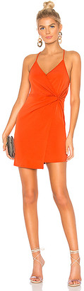 BCBGeneration Twist Wrap Surplice Dress