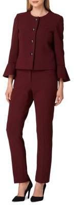 Tahari Arthur S. Levine Two-Piece Bell-Sleeve Pant Suit