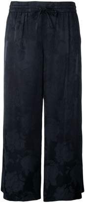Vince floral patterned cropped trousers