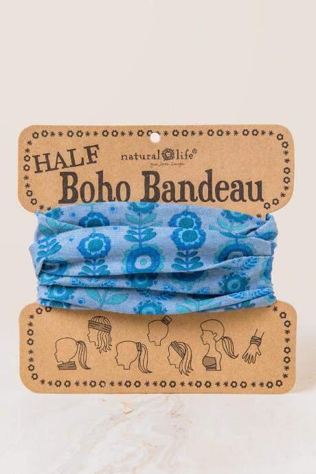 Boho Bandeau in Gray Garland - Blue
