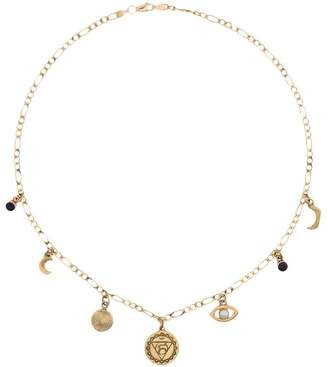 Cornelia Webb gold plated sterling silver Chakra pearl necklace