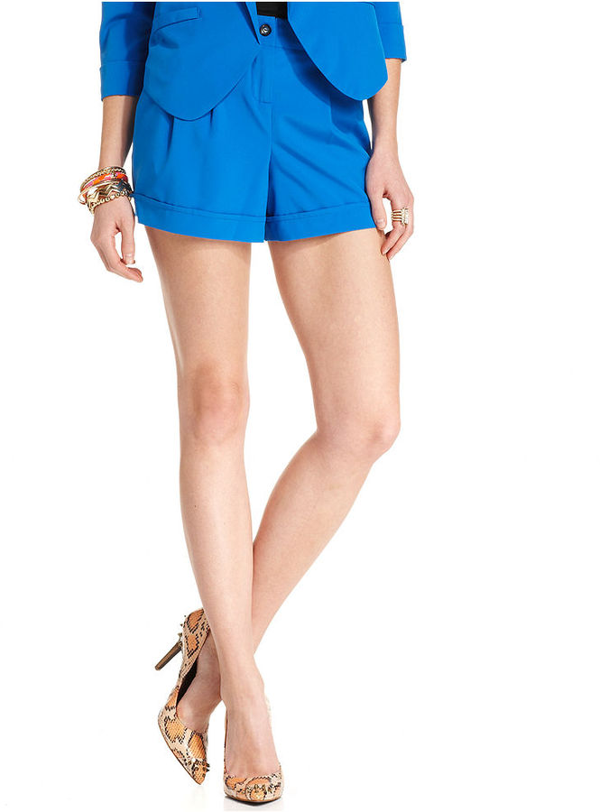 Amy Byer Juniors Shorts, Pleated Cuffed