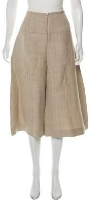 Zero Maria Cornejo Wide-Leg Cropped Pants