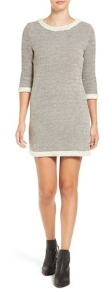 Women's Amour Vert 'Emma' Herringbone Cotton Sheath Dress $148 thestylecure.com