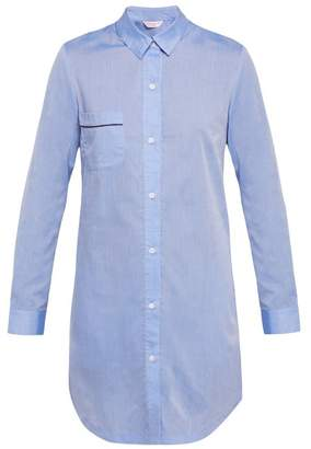 Derek Rose Amalfi 1 Cotton Nightshirt - Womens - Light Blue