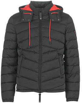 GUESS PUFFA HOODED men's Jacket in Black