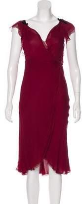 J. Mendel Sleeveless Midi Dress