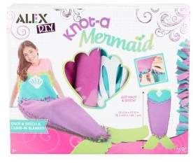 Alex Eleven-Piece Knot-A-Mermaid Blanket Kit