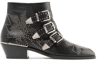 f4bade635bd8 Chloé Susanna Studded Leather Ankle Boots - Black