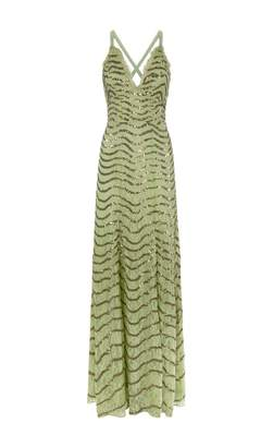 Temperley London Panther Lace Long Gown