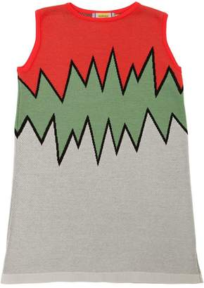 Cotton Jacquard Knit Dress