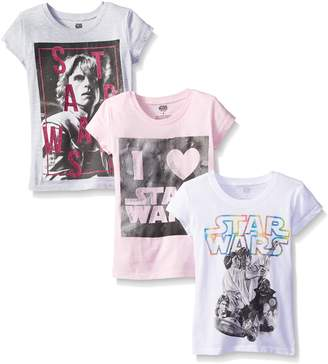 Star Wars Big Girls' Classic Graphic Tee 3-Pack, Assorted