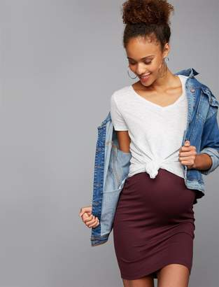 A Pea in the Pod Lightweight Ponte Maternity Pencil Skirt