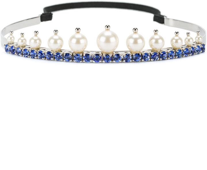 Miu MiuMiu Miu faux pearl and crystal tiara