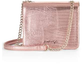 KENDALL + KYLIE for Walmart Pink Metallic Snake Mini Crossbody