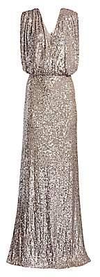 Monique Lhuillier Women's Sequin A-Line Gown