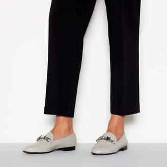 Faith Grey Faux Leather Silver Star 'Astar' Loafers
