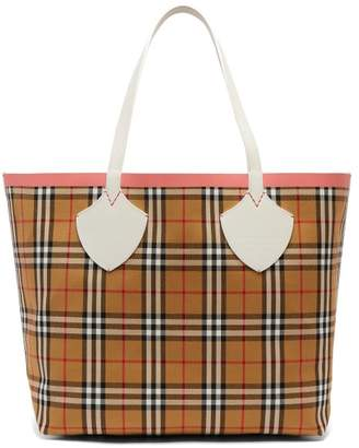 Burberry The Giant Medium Reversible Cotton Tote Bag - Womens - Brown Multi