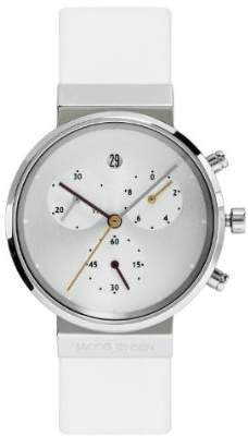 Jacob Jensen Chronograph Series Women's Quartz Watch with Dial Chronograph Display and Leather Strap 616