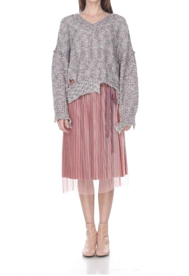 Zero Degrees Celsius Distressed Glitter Sweater