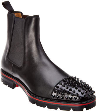 Christian Louboutin Studded Chelsea Leather Boot
