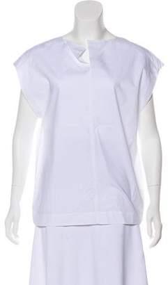 Cos Sleeve Short Sleeve V-neck