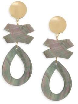 Nest Gray Mother-of-Pearl Clip-on Earrings