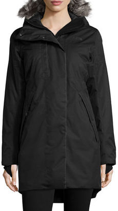 The North Face Hooded Faux-Fur-Trim Parka Jacket $349 thestylecure.com